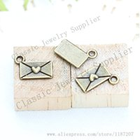 antiqued paper - DIY Jewelry Accessories Antiqued Bronze Tone Vintage Alloy Love Heart Paper Envelope Pendant Charms mm