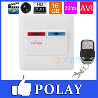 audio control switch - 2014 GB HD P Wall Power Switch SPY HIDDEN Pinhole Camera Nanny Cam Video Audio Recorder DVR with Wireless Remote Control