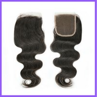 Wholesale Rosa Hair Products A Grade Unprocessed Brazilian Virgin Hair Body Wave Lace Closure Bleached Knots