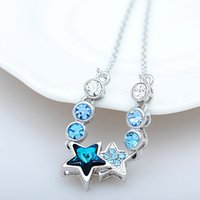 b beaded necklaces - Factory Original design pendant necklace short section of women s high end crystal star pendant jewelry manufacturers b