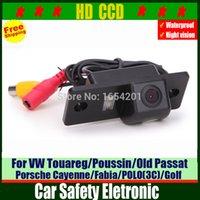 HD del coche del CCD de visión trasera cámara de reserva retrovisor de la cámara de estacionamiento automático para VW Tiguan Touareg / Poussin / Old Passat / Fabia / POLO (3C) / Golf