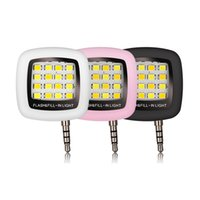 Wholesale 3 mm Jack Built in led lights iblazr LED FLASH for Camera Phone support for Multiple Photography Rechargeable Mini Selfie Sync led Flash