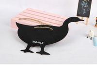 Wholesale New Style Little Duck Shape Black Message Board Home Articles Kindergarden Wooden Teaching Blackboard