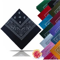 Wholesale DHL Shipping NEW PAISLEY DESIGN BANDANA COTTON BIKER COW BOY GIRL NECK SCARF WRIST WRAP
