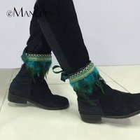Wholesale New trendy woven belt with lightweight feather anklets for women eManco brand beautiful fashion jewelry accessories NL12252