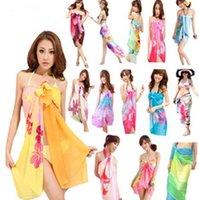 Plain Dyed beach sarong - Women s Bikini Cover up Scarf Sarong Cover Up Miss Swimwear Beach Scarf Pareo Dress Skirt Beach Chiffon Wrap