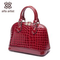 artist messenger bags - Alfa Artist Women s Fashion Alligator PU Messenger Shoulder Bag Tote