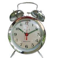 alarm clock manual - Vintage old fashioned manual clockwork ultralarge mechanical alarm clock metal horseshoe alarm clock