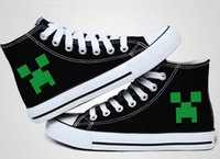 Cheap Minecraft canvas shoes men and women JJ strange increased high-top lovers canvas shoes Minecraft casual Shoes FASHION566