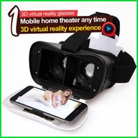 Wholesale Head Mount Plastic VR BOX Version VR Virtual Reality Glasses D Movie for Iphone Samsung Smart Phone VR CASE Bluetooth Remote Contol