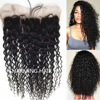 Wholesale 13x4 Brazilian Deep Curly Lace Frontal Deep Curly Wave Virgin Brazilian Deep Curly Hair Lace Frontal Closure Bleached Knots
