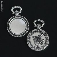 Wholesale Yearning Jewelry Accessories Retro Silver Alice Gentleman Rabbit Watch Base Setting Tray Charms mm