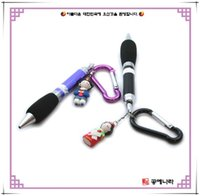 Wholesale Korean creative stationery Carabiner ballpoint pen multicolor plastic ballpoint pen gift souvenirs