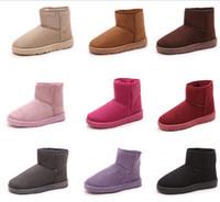 safety net - 2015 fashion women snow Australia Classic MAN bow boots winter platform ladies ankle boots female cotton shoes leather FUR oxford