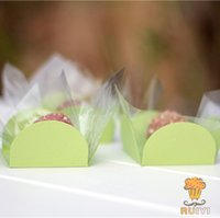 5cm apple birthday cake - 100pcs Petal Apple green cake wappers birthday party kids party supplies chocolate candybar forminhas para doces AW
