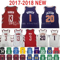 Baseball Men Short 2017-18 New 1 Devin Booker 13 James Harden Jersey Men s  2018 7d9870b0f