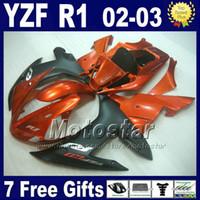 Wholesale For YAMAHA YZF R1 fairing kit Burnt orange Injection molding r1 fairings kits ABS bodywork L87 customize