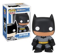 Wholesale 2015 Funko Pop cm Cute Mini Batman white eyes marvel Superhero Movie Action Figure Amine collection model kids bast Toys
