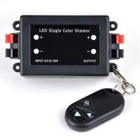Wholesale RF LED Dimmer Wireless Brightness Keys Remote Controller DC V V A W W for Single Color Strip Lights