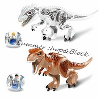 Wholesale Kids birthday gift New Jurassic World Large Tyrannosaurus Rex D Rex Bricks Building Blocks Mini figure optional color box funny toys