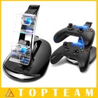 Wholesale New Style USB LED Fast Charging Stand Dock For Dual Xbox One Game Controller Black With LED Light Free DHL