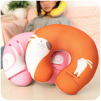 Wholesale Silent love cartoon U type pillow pillow slow rebound cotton pillow nap neck pillow U pillow travel pillow