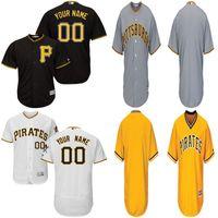 Baseball custom baseball jersey - 2016 New Top Quality Pittsburgh Pirates Authentic Personalized Jersey Double Stitched Cool Base Custom Men s Baseball Jerseys Whit