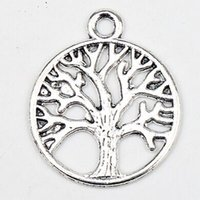 tree jewelry charms - MIC Tibetan Silver Big Wealth Tree Dangle Charms Pendants Jewelry DIY