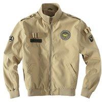 Otoño-Air Force Estilo del tamaño grande Chaquetas Águila bordado piloto Jacket Coat Usa militar del ejército azul verde caqui Colores