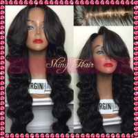 african wigs wholesale - Gorgeous Best body wave indian Full Lace Wig glueless Lace Front Wig unprocessed Human Hair wigs with full bangs for african american