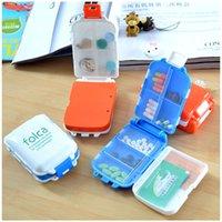 Wholesale Novelty Min Bin Shape Portable Pill Box Holder Organizer Case Medicine Removerable Dispenser colors selection