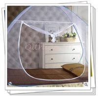 baby mosquito net tent - 100pcs CCA3143 New Arrival Baby Kids Net Tent Toddler Bed Crib Canopy Pop Up Mosquito Net Netting Play Tent Playpen House Crib Netting Tent