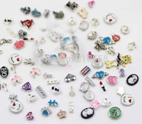 Wholesale New arrive many styles fashion floating locket charms alloy floating charm For Living Floating Locket Accessories JJAL BE348