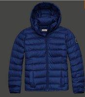 Wholesale Fall New brand Men s down jackets fashion hooded coat zipper Thin Warm outdoor Down amp Parka man