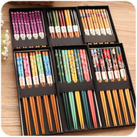 Wholesale Silently in love with Japanese style and bamboo chopsticks chopsticks export Japan gift boxes and portable tableware set double