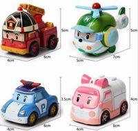 Wholesale robocar poli toys car robot transformation toys robot transformer car Poli Helly Amber Roy South Korea Thomas Kids Gift Plastic Car toy