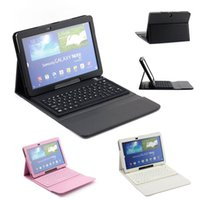 P600 folio leather cover - Silicon Bluetooth Wireless Keyboard PU Leather Case Cover For Samsung Galaxy Note Edition P600 P601