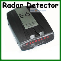 Wholesale E6 Vehicle Auto Car Radar Detector Global Position System Russian Version English Version Black with LED