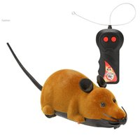 Wholesale 2015 new arrivel New Scary RC Simulation Plush Mouse toy Mice With Remote Controller Toy Gift Gray amp