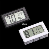 Wholesale New Arrive Mini Digital LCD Indoor Temperature Humidity Meter Thermometer Hygrometer Tester