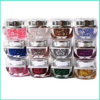 Wholesale 2015 New Supplies Beauty Colors Uv Nail Gel Glitter Refinement Sequins Glass Glue