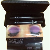 waterproof mascara - New and versiion Mascara D FIBER LASHES Waterproof Double With Barcode and instruction black mascara