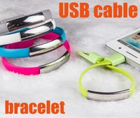usb wristband - Portable Wristband Bracelet USB Micro Cable Charger Cables For Samsung Galaxy S6 S4 S3 HTC Huawei Xiaomi CAB073