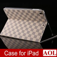 Wholesale Case for Apple iPad Air air for ipad for ipad mini Plaid Design Business PU Leather Protective Skin With Card Holder