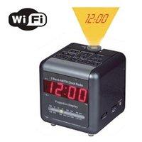 alarm clock camera with audio - H WiFi IP Alarm Clock Hidden Camera Radio Covert with way Talk Back Audio