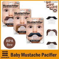 Wholesale 3 Styles Safe Quality Baby Products Baby Funny Pacifier Mustache Pacifier Infant Soother Gentleman bpa free
