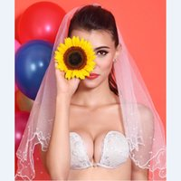 Cheap White Lace Invisible Strapless Bra For Wedding Dress Silicone Bra Backless Free Bra Push Up Nipple Pasties Sutian Women Sexy Underwear