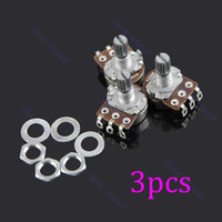 audio potentiometer - New A250k Split Shaft Guitar Potentiometer Pots Audio Tone Switch Control order lt no track