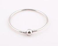 children charm bracelet - European Style Rhodium Silver color Clasp Children Bracelet bangle fit Pandora Bracelet bangle NO LOGO ZB125