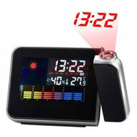 Wholesale Projection Alarm Clock With Fashion Digital Weather Thermometer Snooze Function Station LED Light L014165